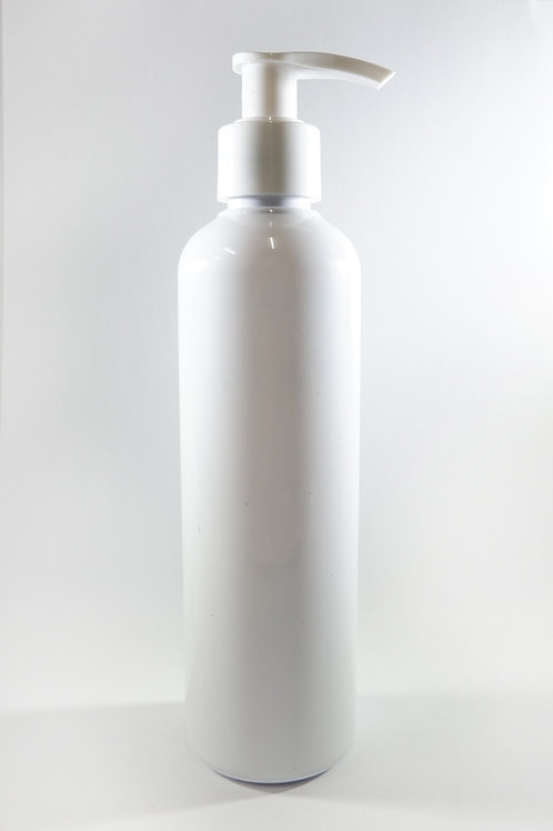 250ml PET Cylindrical White Bottle with Lotion Pump
