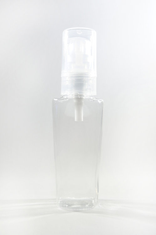 50ml PET Lily Clear Bottle with Gel Pump
