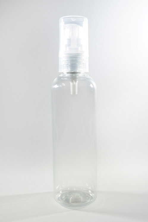 100ml PET Cylindrical Clear Bottle with Gel Pump