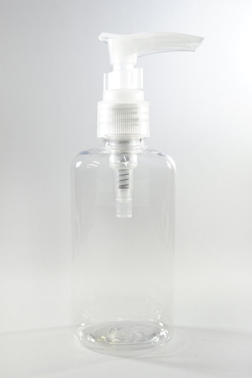 100ml PET Oval Clear Bottle with Lotion Pump