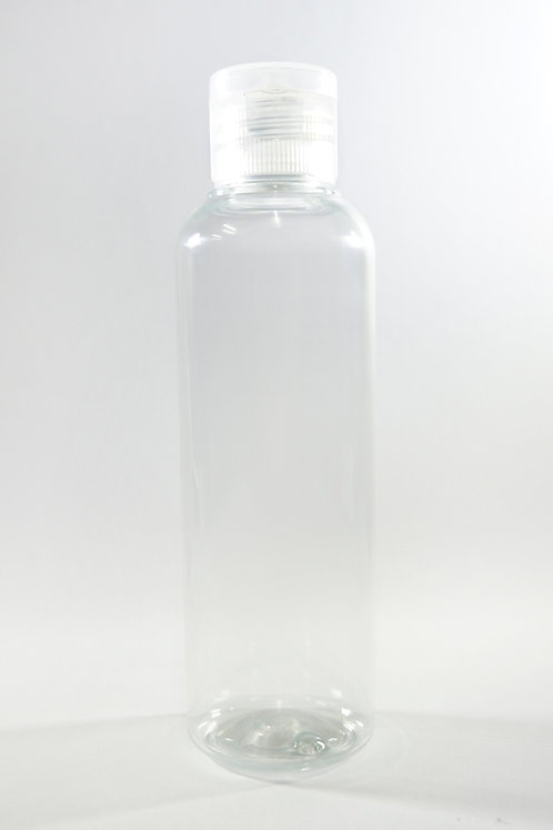 100ml PET Cylindrical Clear Bottle with Flip Cap