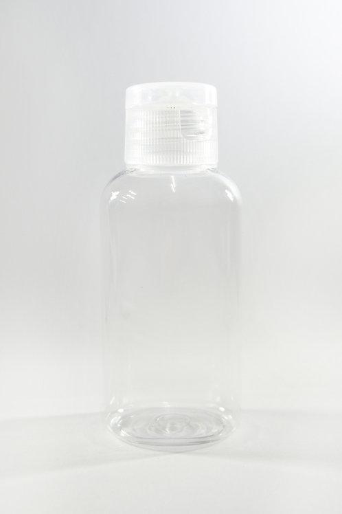 60ml PET Oval Clear Bottle with Flip Cap