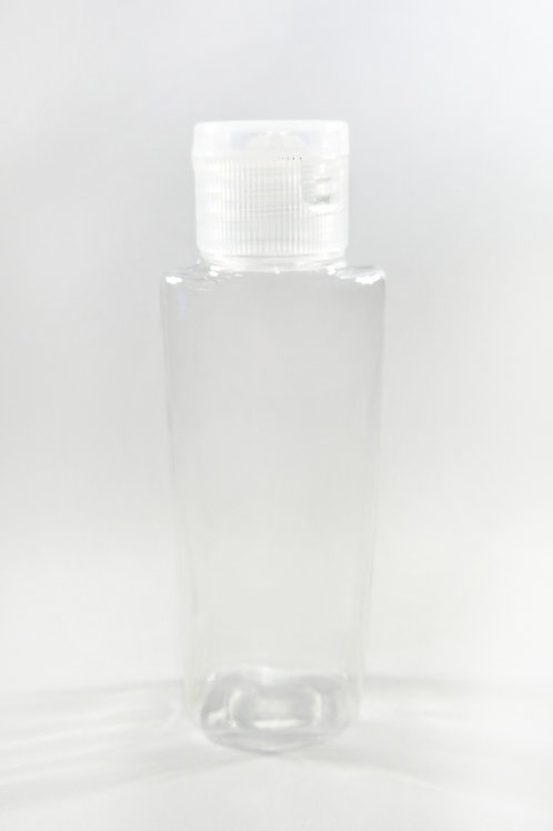 50ml PET Lily Clear Bottle with Flip Cap