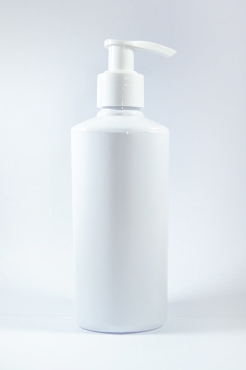 210ml PET Woodson White Bottle with Lotion Pump