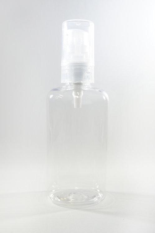 100ml PET Oval Clear Bottle with Gel Pump
