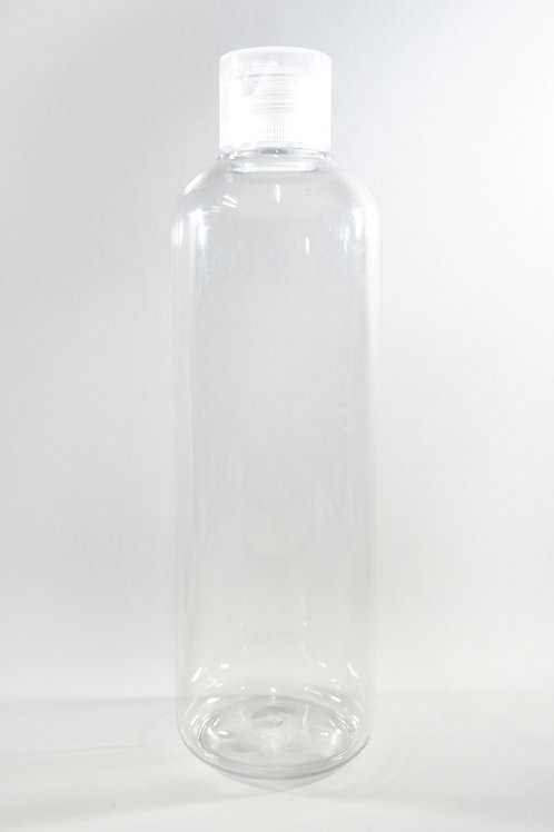 250ml PET Cylindrical Clear Bottle with Flip Cap