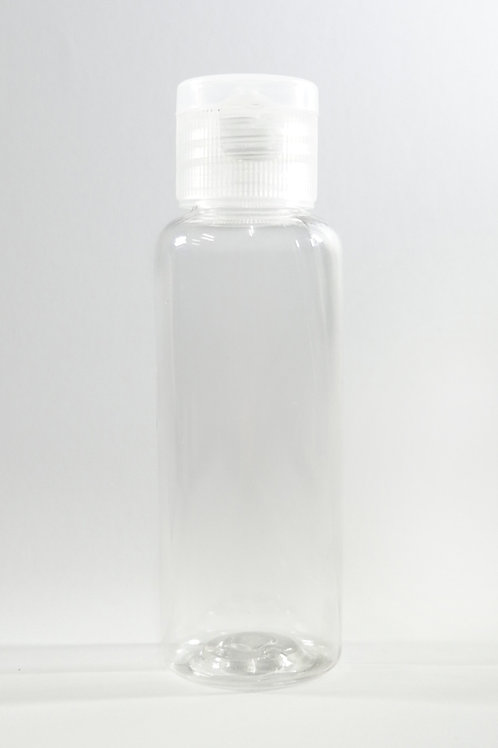 50ml PET Cylindrical Clear Bottle with Flip Cap
