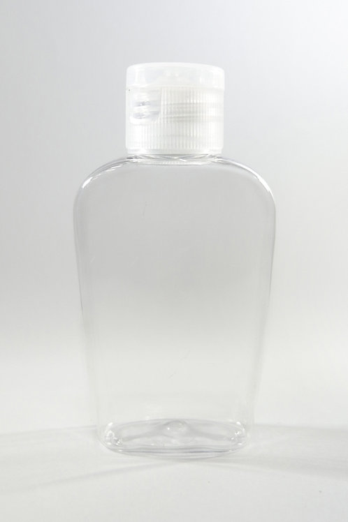 60ml PET Amary Clear Bottle with Flip Cap