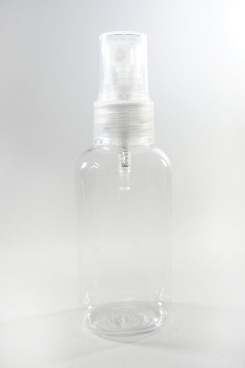 60ml PET Oval Clear Bottle with Sprayer