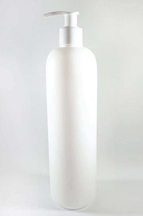 500ml HDPE Bullet White Bottle with Lotion Pump