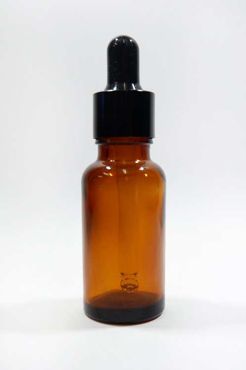 15ml Glass Dropper Amber Bottle with Black Cap