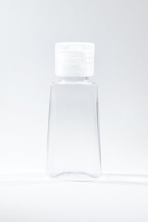 30ml PET Trapezoid Clear Bottle with Flip Cap