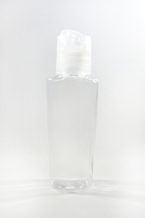 50ml PET Lily Clear Bottle with Disc Cap