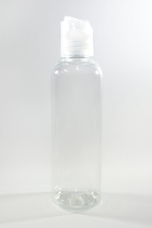 100ml PET Cylindrical Clear Bottle with Disc Cap