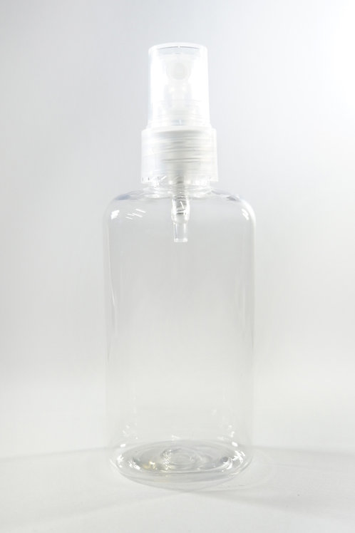 100ml PET Oval Clear Bottle with Sprayer
