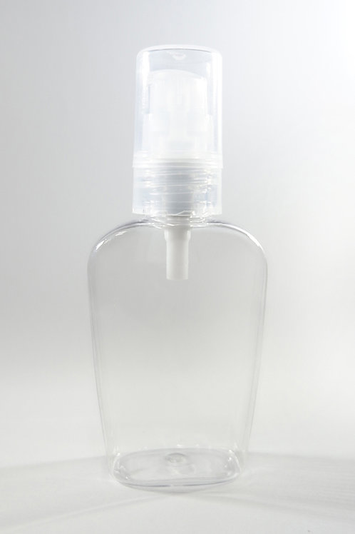60ml PET Amary Clear Bottle with Gel Pump