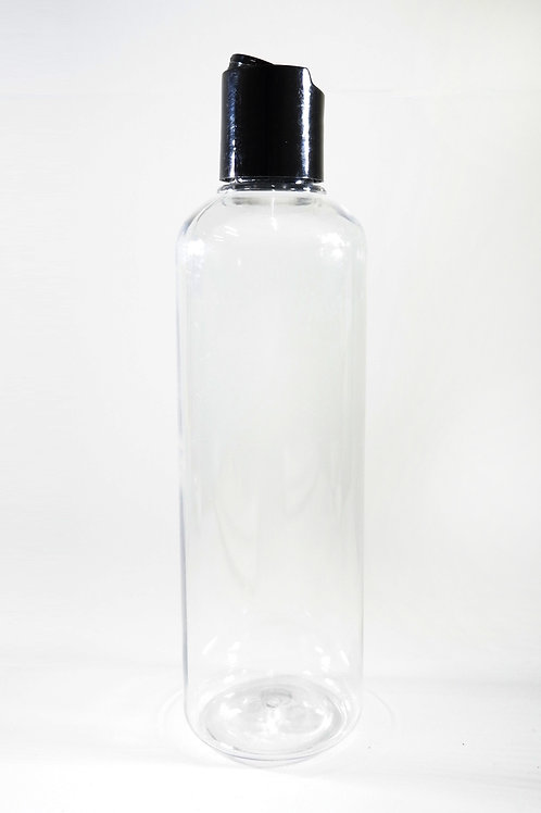 250ml PET Cylindrical Clear Bottle with Disc Cap