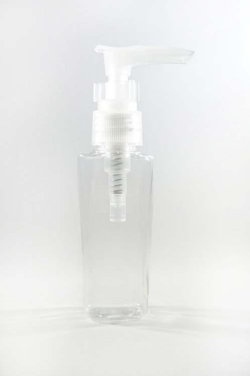 50ml PET Lily Clear Bottle with Lotion Pump