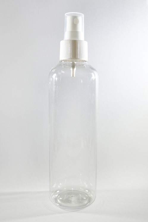 250ml PET Cylindrical Clear Bottle with Sprayer