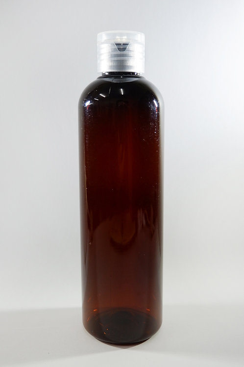 250ml PET Cylindrical Amber Bottle with Flip Cap