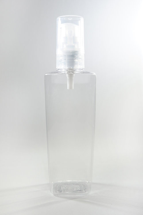 100ml PET Lily Clear Bottle with Gel Pump