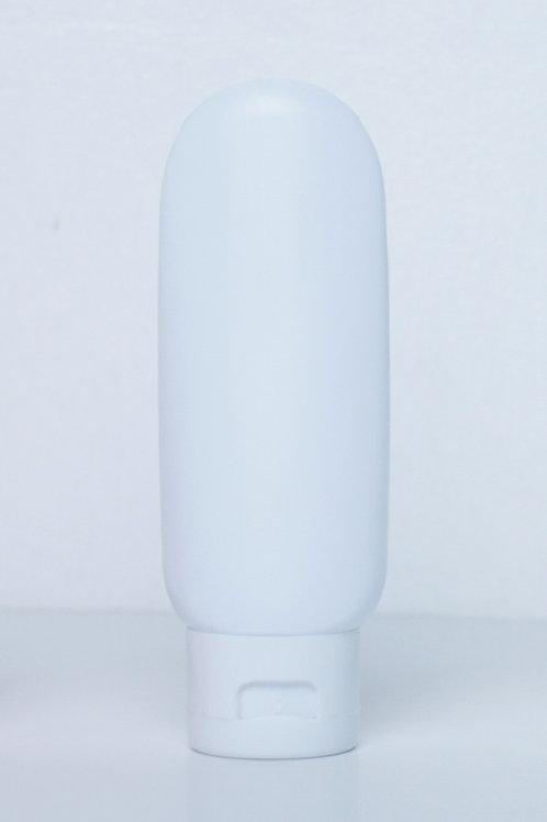 60ml LDPE Tube White with White Flip Cap