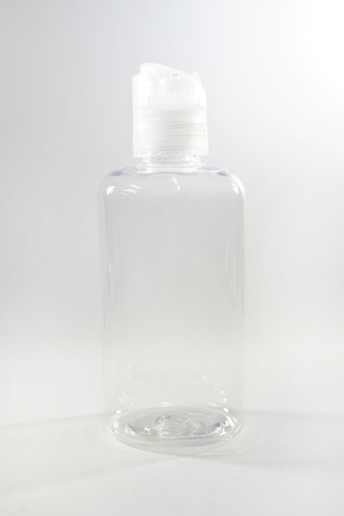 100ml PET Oval Clear Bottle with Disc Cap