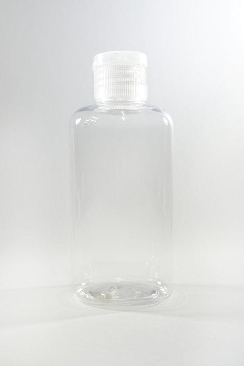 100ml PET Oval Clear Bottle with Flip Cap