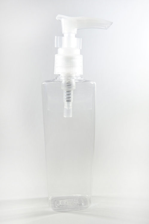 100ml PET Lily Clear Bottle with Lotion Pump