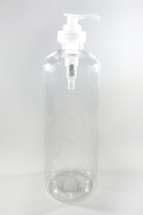 500ml PET Cylindrical Clear Bottle with Lotion Pump