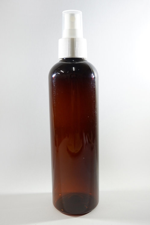 250ml PET Cylindrical Amber Bottle with Sprayer
