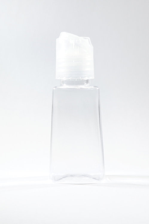 30ml PET Trapezoid Clear Bottle with Disc Cap