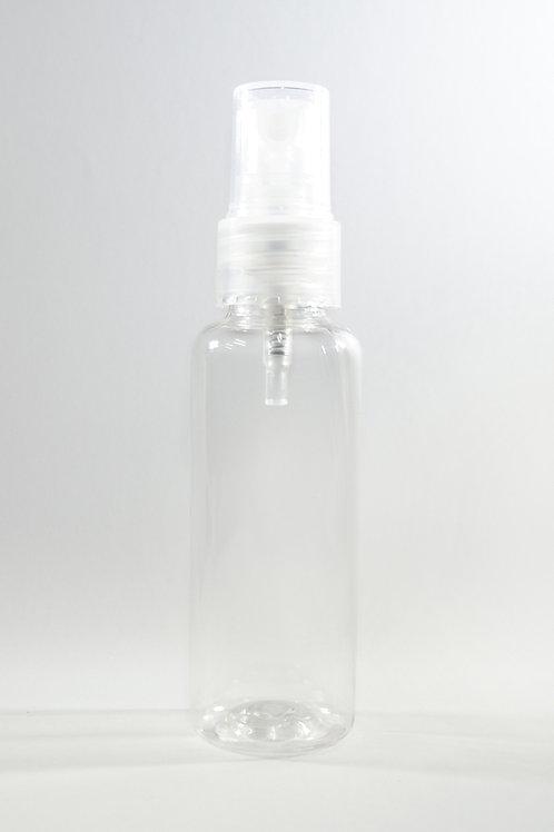 50ml PET Cylindrical Clear Bottle with Sprayer