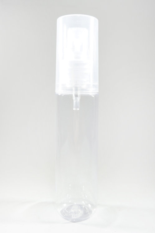 50ml PET Midget Clear Bottle with Sprayer Over Cap