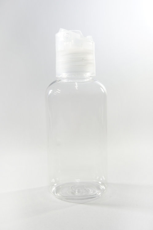 60ml PET Oval Clear Bottle with Disc Cap