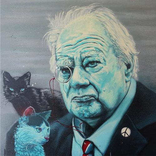 Patrick Moore portrait