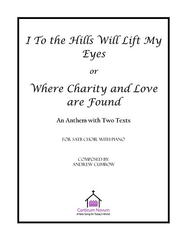 I to the Hills or Where Charity and Love