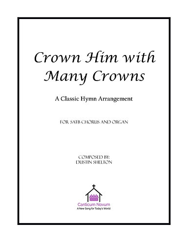 Crown Him with Many Crowns (SATB)