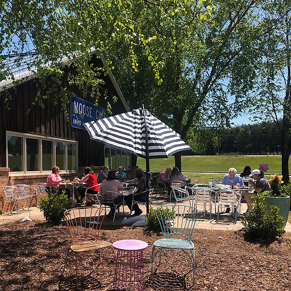 The Piedmont Triad Farmers Market Offers Outdoor Dining at Local Favorite Restaurant Moose Cafe!  Moose Cafe offers Breakfast All Day and Award Winning Southern Comfort Food. Outdoor Dining Diners.jpg