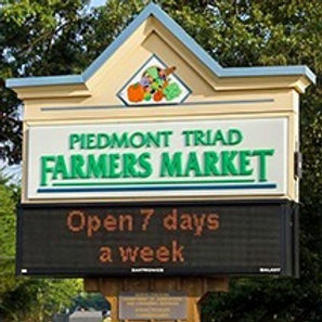 Piedmont Triad Farmers Market Entrance off I40, Exit 208 off Sandy Ridge Rd.  Piedmont Triad Farmers Market offers outdoor shopping and award winning southern dining at Moose Cafe Farmers Market Restaurant.  Moose Cafe at the Piedmont Triad Farmers Serves Southern Food Prepared with Ingredients straight from the Farmers Market212x21
