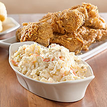 Southern Fried Chicken and the fixins are a classic at Moose Cafe.  Moose Cafe has served fresh, home-cooking for over 25 years at the farmers market restaurant in Asheville, NC and Greensboro, Winston-Salem, High Point, NC. Coleslaw and fried chicken 218x218.jpg