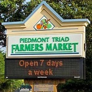 Piedmont Triad Farmers Market Sign212x21