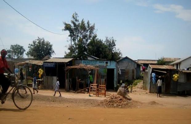 "Pictured: Muhuru Bay ""customs""/downtown area"