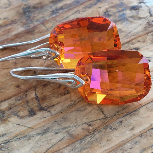 Handmade Jewels with Swarovski Crystals in Amber and Sterling Silver by CristalChic