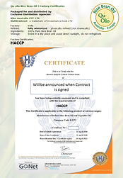 Qu-Olio Factory Certifictes