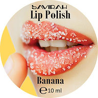 Savirah Lip Polish Banana Round Label.jp
