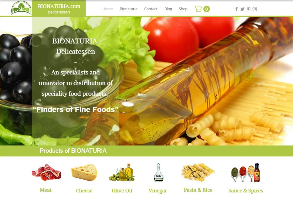 bionaturia homepage