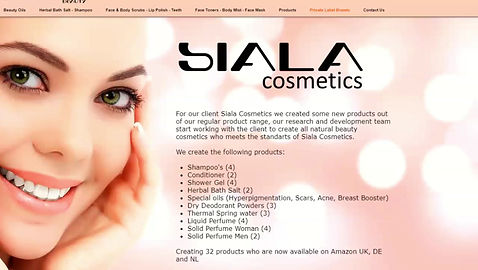 All Natural Beauty Line Siala Cosmetics