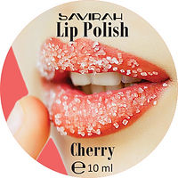 Savirah Lip Polish Cherry Round Label.jp