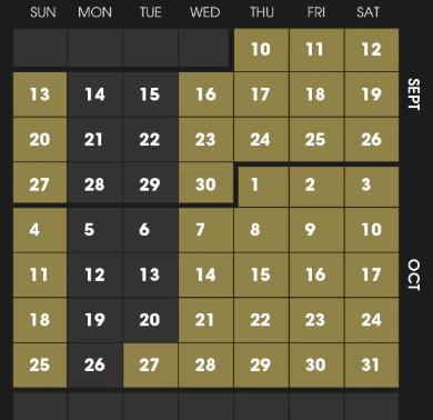 The COMPLETE #HHN30 Calendar for Universal Orlando!